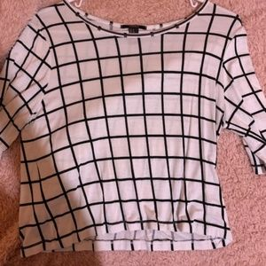 White and Black Square Tee